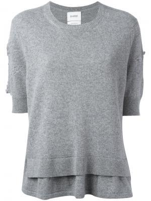 Вязаная блуза Barrie. Цвет: серый