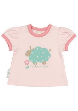 Комплект : футболка 3 шт Lucky child. Цвет: зеленый (мятный/розовый)