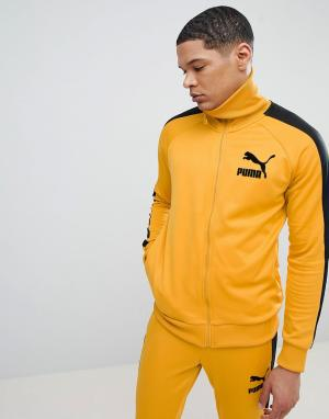 Puma Желтая спортивная куртка в винтажном стиле T7 57498548. Цвет: желтый