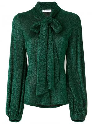 Блестящая блузка с завязкой на бант Dondup. Цвет: зелёный
