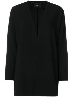 Пиджак с глубоким вырезом Steffen Schraut. Цвет: чёрный