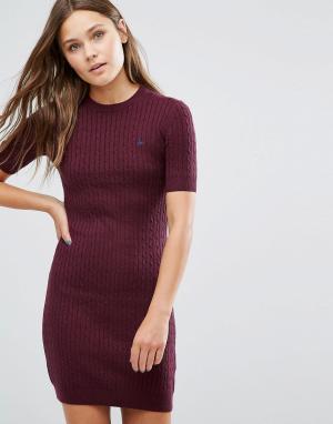 Jack Wills Вязаное платье Knowlden. Цвет: красный