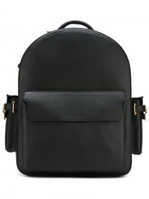 Рюкзак на молнии сверху Buscemi. Цвет: чёрный