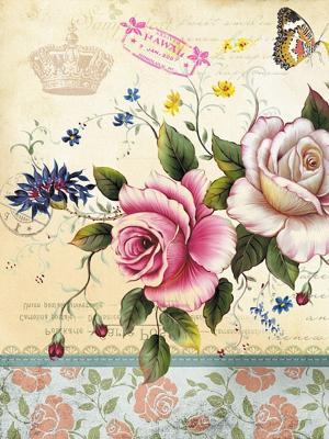 Наволочка Винтаж Матренин Посад. Цвет: розовый, белый, серый