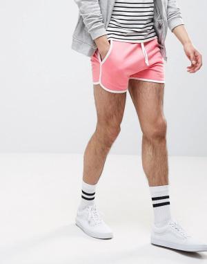 ASOS Трикотажные спортивные шорты. Цвет: розовый