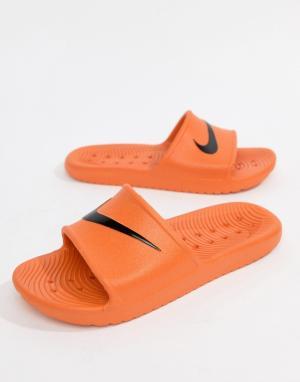 Nike Оранжевые шлепанцы Kawa 832528-800. Цвет: розовый