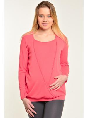 Блуза с секретом кормления Ням-Ням. Цвет: коралловый