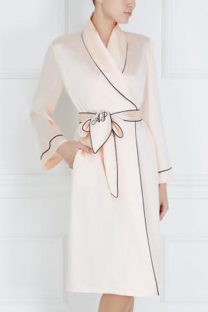 Халат Classic Dressing Gown Agent Provocateur. Цвет: розовый, черный