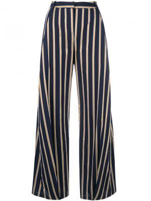 Широкие брюки в полоску Palmer / Harding. Цвет: синий
