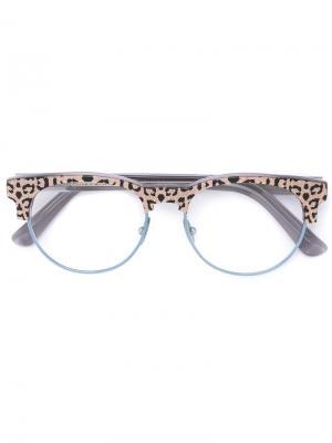 Очки с леопардовым узором Cutler & Gross. Цвет: розовый и фиолетовый