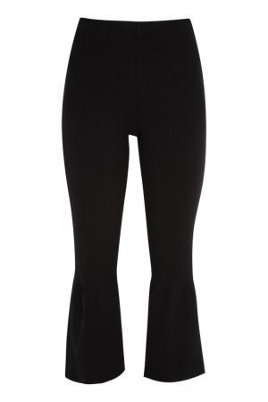 Черные брюки-клеш Knittedkiss. Цвет: черный