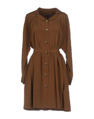 Короткое платье ORLA KIELY. Цвет: коричневый