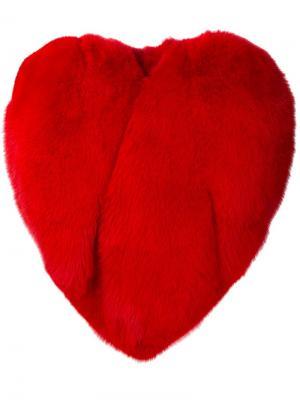 Кейп в форме сердца Saint Laurent. Цвет: красный