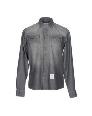 Джинсовая рубашка FRED MELLO. Цвет: стальной серый