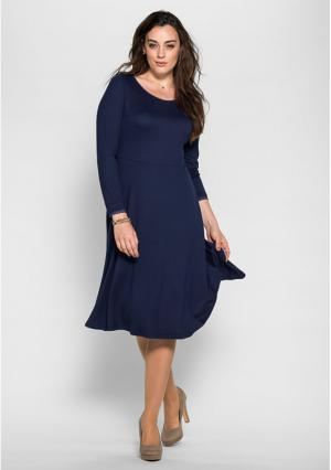 Платье sheego. Цвет: темно-синий