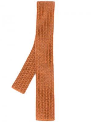 Трикотажный галстук Eleventy. Цвет: коричневый