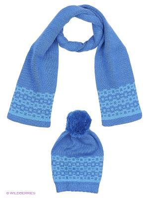 Комплект детский (шапка, шарф) R&I. Цвет: голубой