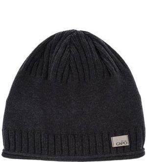 Серая хлопковая шапка Capo. Цвет: серый
