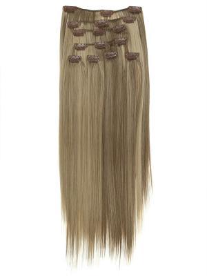 Накладные волосы, пряди на заколках-клипсах Lika VIP-PARIK. Цвет: светло-коричневый, белый, молочный