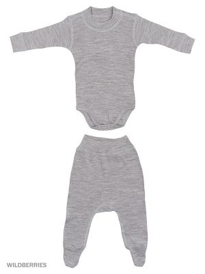 Комплект термобелья Dr.Wool. Цвет: серый меланж