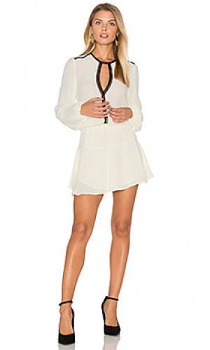 Сплошное мини платье titti Karina Grimaldi. Цвет: ivory