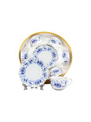 Чайный набор Шарм Elan Gallery. Цвет: синий, белый