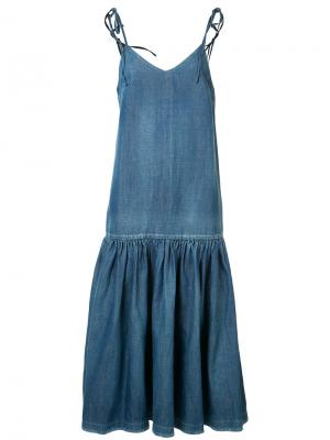 Джинсовое платье с заниженной линией талии Co. Цвет: чёрный