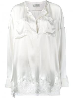 Блузка с кружевной вставкой Faith Connexion. Цвет: белый
