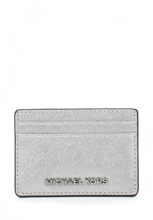 Визитница Michael Kors. Цвет: серебряный