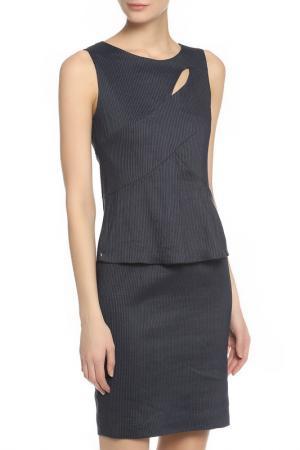 Платье Oblique. Цвет: синий