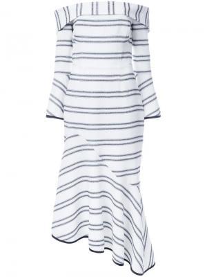 Платье в полоску Jupiter Rebecca Vallance. Цвет: белый