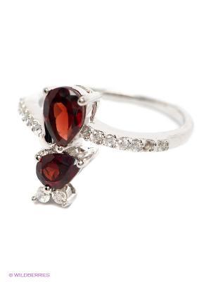Ювелирное кольцо Art Silver. Цвет: серебристый, красный
