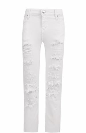 Укороченные расклешенные джинсы с потертостями Iro. Цвет: белый