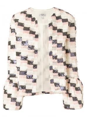 Пиджак Adriana Jovonna. Цвет: многоцветный