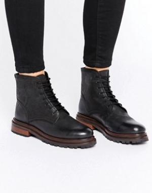 Hudson London Ботинки на шнуровке H By Lingshaw. Цвет: черный