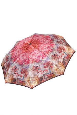 Складной зонт автомат с принтом Ангелочки Fabretti. Цвет: радужный