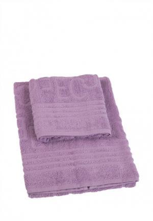 Комплект полотенец 2 шт. La Pastel. Цвет: фиолетовый