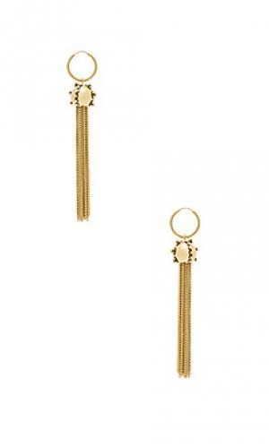 Серьги с серёжками the baroque Luv AJ. Цвет: металлический золотой