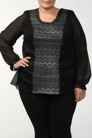 Блуза Terra. Цвет: черный, серебряный