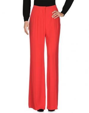Повседневные брюки ELIE SAAB. Цвет: красный