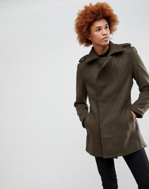 Criminal Damage Пальто Agent. Цвет: зеленый