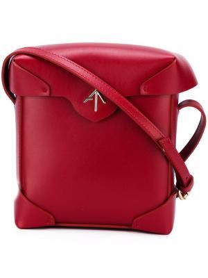 Мини-сумка Pristine Manu Atelier. Цвет: красный