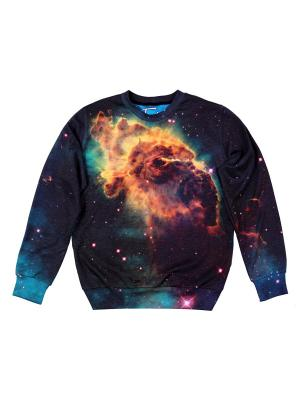 Свитшот Cosmic Nebula FUSION. Цвет: синий, голубой, оранжевый