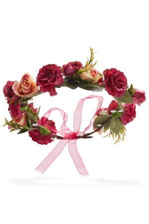 Ободок для волос Nothing but Love. Цвет: ярко-малиново-розовый, светло-