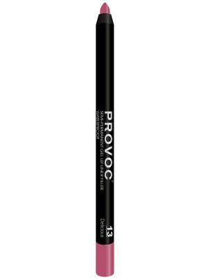 PV0013 Gel Lip Liner 13 Delicious Гелевая подводка в карандаше для губ (цв. розово-малиновый) Provoc. Цвет: розовый