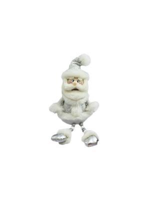 Кукла Дед Мороз 45 см, серебро Новогодняя сказка. Цвет: серый