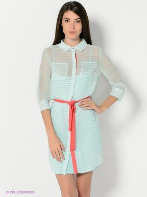 Платье Baon. Цвет: голубой, коралловый, белый