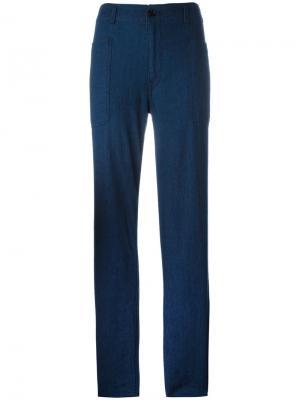 Широкие джинсы Vince. Цвет: синий