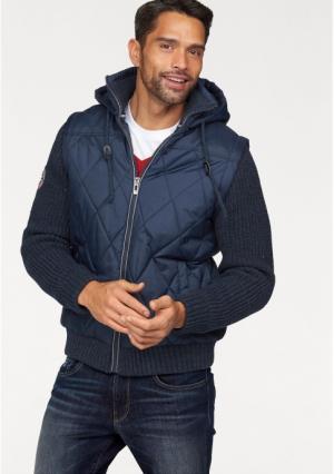 Стеганая куртка Rhode Island. Цвет: темно-серый, темно-синий