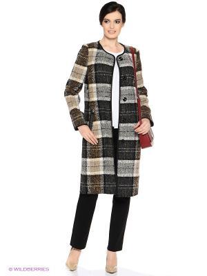 Пальто PARADOX. Цвет: коричневый, серый